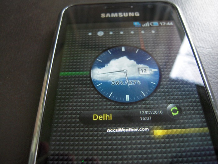 Customized Widgets in Samsung Galaxy S